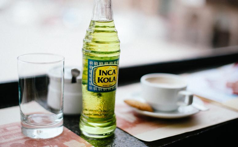Inca Kola kleine glasflasche