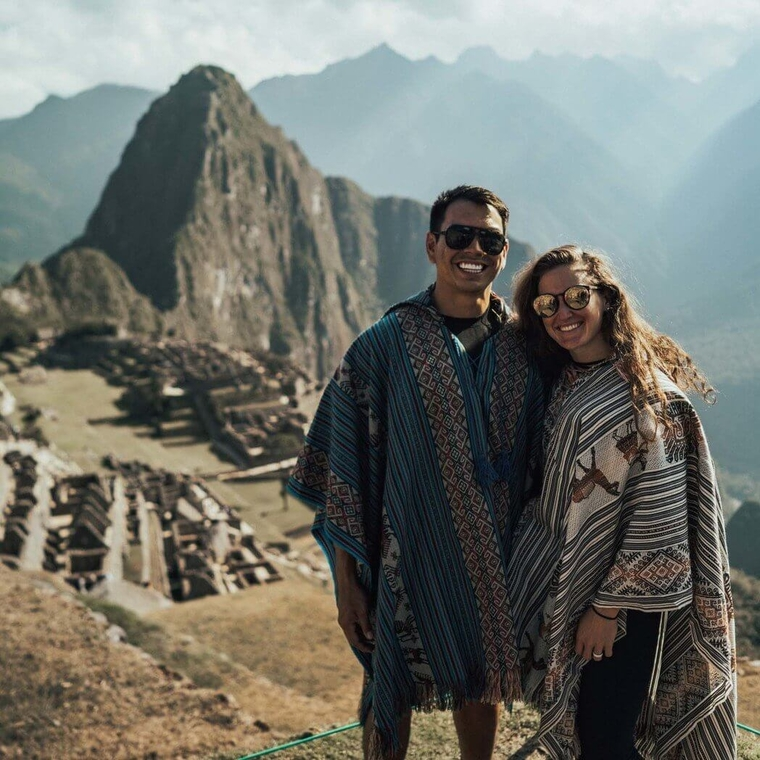 Hiking to the Sun Gate at Machu Picchu
