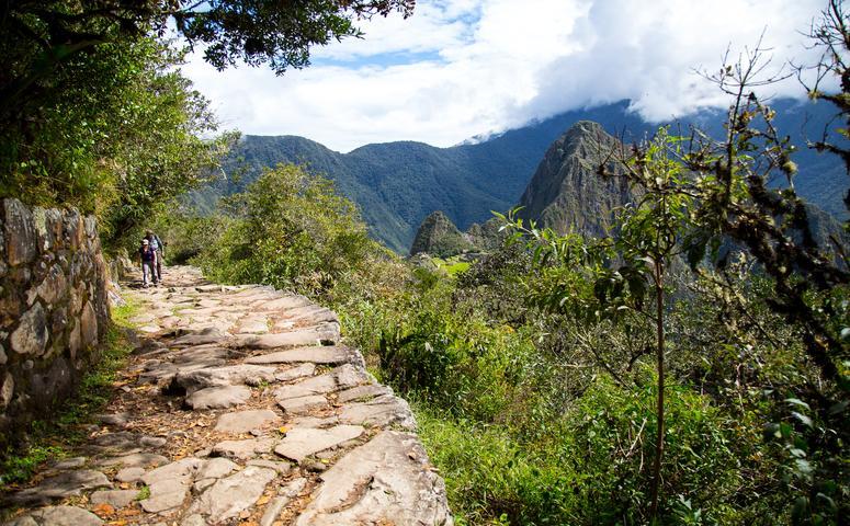 Machu Picchu berg weg