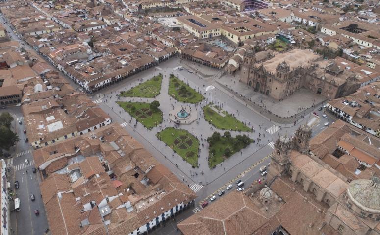 Foto de la plaza de armas desde arriba