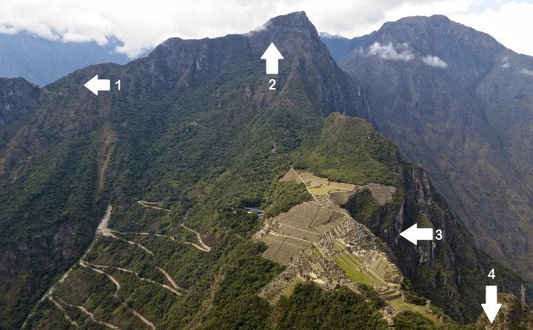 Orte am Machu Picchu