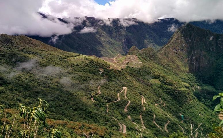 View from sun gate of machu picchu