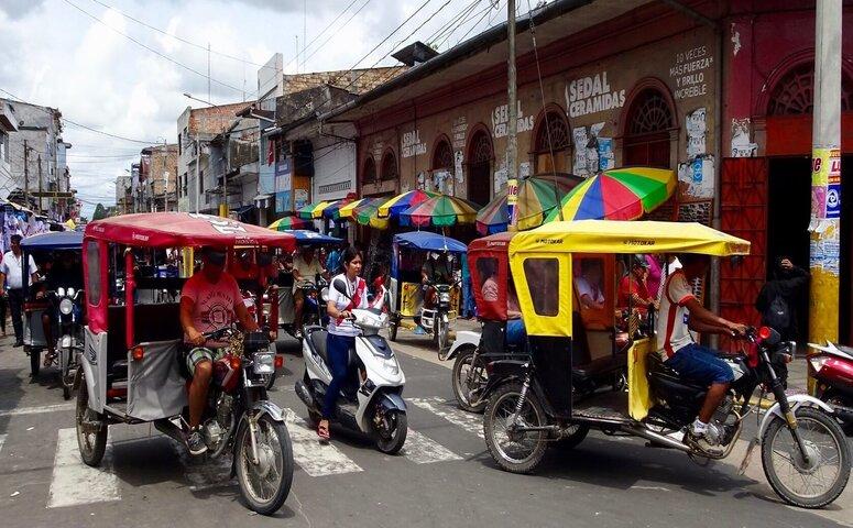 mototaxis in iquitos peru