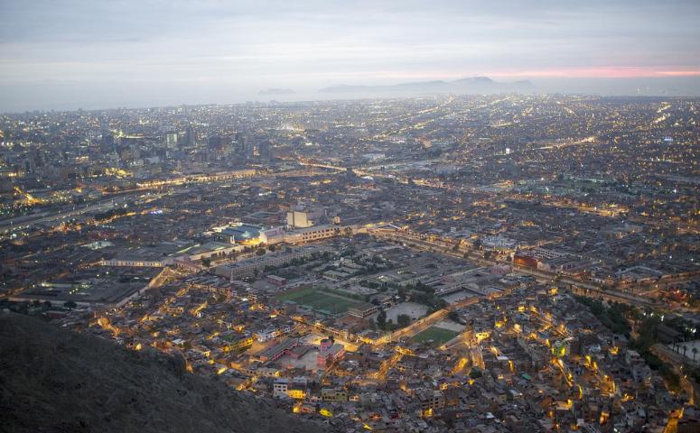 Lima Aussicht am Abend