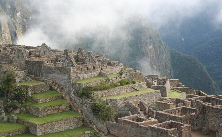 ancient Machu Picchu ruins during inca trail